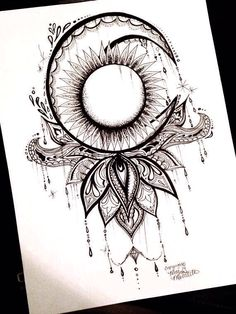 This would be a cool tatoo. Et Tattoo, Tattoo Henna, Tattoo Hals, Piercing Tattoo, Tattoo Drawings, Tattoo Sun, Half Moon Tattoo, Future Tattoos, Love Tattoos