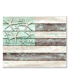 Another great find on #zulily! Starfish & Stripes Wall Art by Chesapeake Bay #zulilyfinds. Maybe 13 starfish.