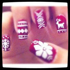 christmas nails. by maricelllaaa - Nail Art Gallery nailartgallery.nailsmag.com by Nails Magazine www.nailsmag.com #nailart
