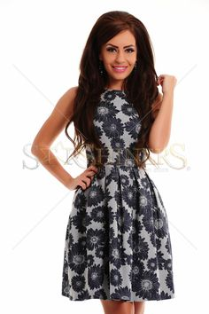 Ancient Spring DarkBlue Dress