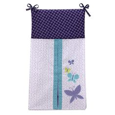 NoJo Beautiful Butterfly Cot Nappy Stacker