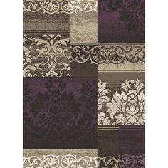 Concord Global Manhattan Rectangular Purple Woven Area Rug (Common: 8-ft x 11-ft ; Actual: 7-ft 10-in x 10-ft 6-in)
