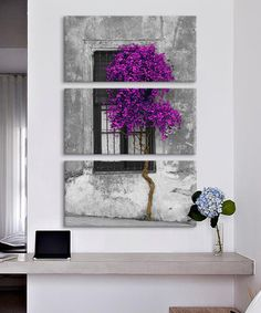 Look what I found on #zulily! Tree in Front of Window Gallery-Wrapped Canvas Triptych #zulilyfinds