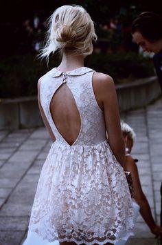 oval-open lace back.
