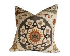 Suzani  Pillows Decorative Throw Pillow Accent by PillowThrowDecor, $36.00