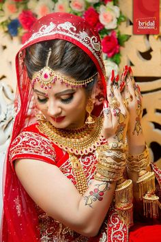 bridal jewelry for the radiant bride Indian Bride Photography Poses, Indian Bride Poses, Indian Wedding Poses, Indian Bridal Photos, Wedding Photography India, Wedding Couple Poses Photography, Indian Groom Wear, Romantic Wedding Photos, Bridal Poses