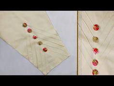 Best 12 Beautiful tuks trouser design for kurti Salwar Neck Designs, Kurta Designs Women, Dress Neck Designs, Sleeve Designs, Blouse Designs, Hand Embroidery Dress, Kurti Embroidery Design, Hand Embroidery Designs, Kurti Sleeves Design