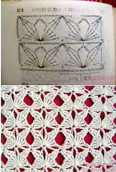 Another crochet stitch pattern, diagram providedThis would make a nice fancy-shmancy scarf.LOVE this Crochet Stitch: Butterflies! Multiples of or 11 if in the round. Chart is included in this image.Crochet stitches to learn Mais MaisTina's handicraft Crochet Motifs, Crochet Diagram, Crochet Stitches Patterns, Crochet Chart, Knitting Stitches, Crochet Designs, Stitch Patterns, Knitting Patterns, Crochet Doilies