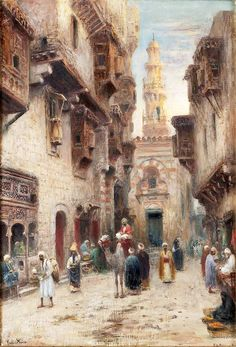 "odelmark frans wilhelm street in cairo (from <a href=""http://www.oldpainters.org/picture.php?/31980/category/11901""></a>)"