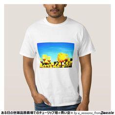 ある日の世羅高原農場でのチューリップ畑☆青い空☆ TEE シャツ