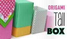 Tall Origami Box Instructions - Any Size - DIY