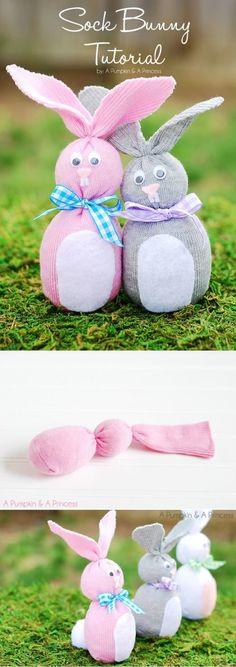 "DIY Sock Bunny from ""A Pumpkin And A Princess"""