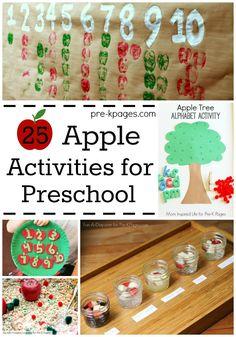 25 Apple Activites for Preschool