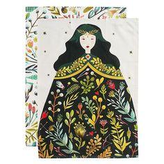 The cotton tea towel set – a MOZI classic featuring the villainously beautiful Odile.