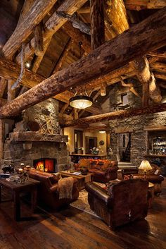 Extremely cozy and rustic cabin style living rooms This is AWESOME! Just so cozy! 47 Extremely cozy and rustic cabin style living roomsThis is AWESOME! Just so cozy! 47 Extremely cozy and rustic cabin style living rooms Log Cabin Living, Log Cabin Homes, Cozy Living, Cabins In The Woods, Great Rooms, My Dream Home, Living Rooms, Living Spaces, Living Area