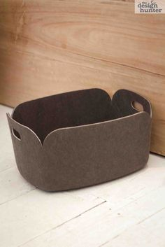 """This would be great done in leather or thick felt Image of Muuto (New Nordic) """"Restore"""" Storage Basket"""
