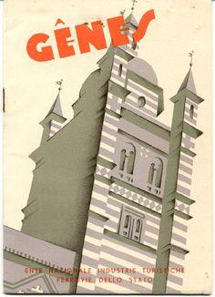 Genoa, circa 1934  I like architectural illustrations.