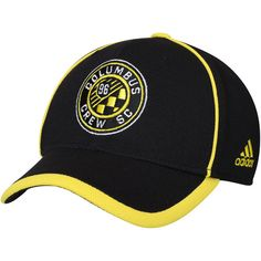 huge selection of c8852 519a2 Men s Columbus Crew SC adidas Black Cut and Sew Structured Adjustable Hat,  Your Price