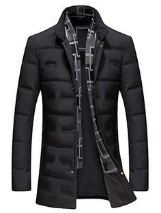 Fubotevic Men Cotton Long Sleeve Casual Lapel Neck Full-Zip Button Up Dress Work Shirt