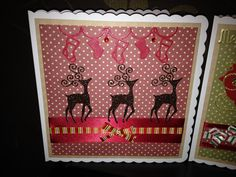 Christmas card in red