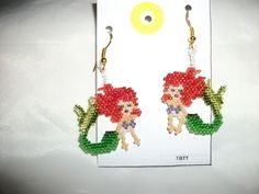 Little Mermaid Earrings M size by TBTT on Etsy