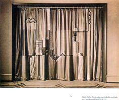 cortinas casa Sommerfeld (1921) de Dörte Helm.