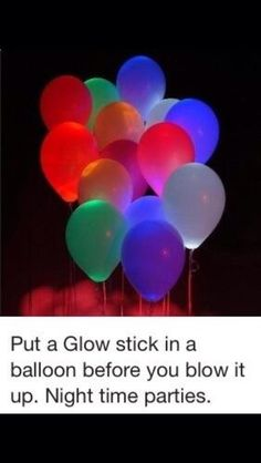 This is an easy and fun Idea for a party at night time! It looks super cool!  I hope this helped for an idea towards your best party! Please like and follow ❤️