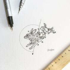 Geometric Beasts | Rabbit  by kerbyrosanes