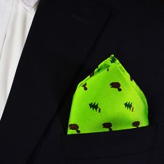 Beaver Pocket Square - Dark Beaver