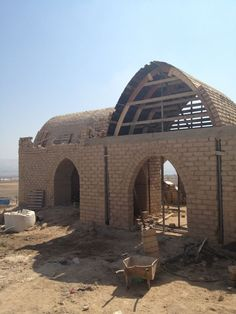 Earth brick vaults- Women Center in Bardala