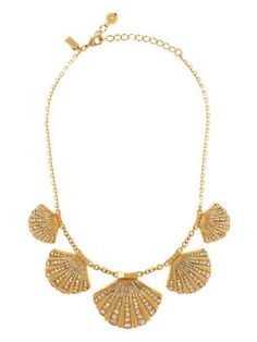 shore thing clam collar necklace by kate spade new york; anything to make me more like a mermaid.