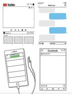 Looking for printable layouts for your bullet journal? These letter-size printable one-page weekly bullet journal layouts come in 4 unique designs! Bullet Journal School, Bullet Journal Inspo, Bullet Journal Banner, Bullet Journal Notebook, Bullet Journal Aesthetic, Bullet Journal Spread, Bullet Journal Ideas Pages, Journal 3, Journal Design