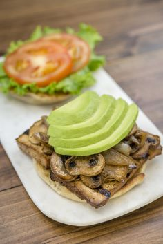Spread, layer or mix fresh avocados into your favorite sandwich recipes. Sandwich Ideas, Sandwich Recipes, Fresh Avocado, Salmon Burgers, Sandwiches, Tasty, Diet, Healthy, Ethnic Recipes