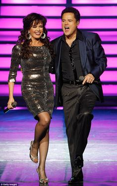 Still going strong: Marie Osmond and her 57-year-old brother Donny have been performing at the Flamingo casino together since 2008.