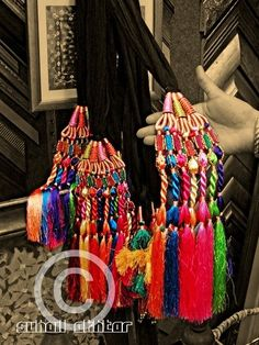 This is a Paranda, a decoration to braid into your hair, from India.