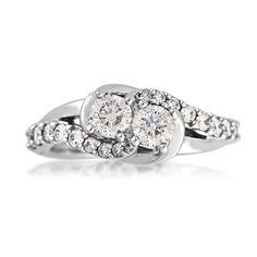 Ladies 2BeLoved Diamond Ring in 14 Kt. White Gold - RE-7662-A50 14W'
