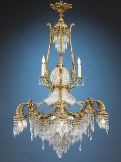 Antique Chandeliers, Napoleon III, Baccarat Crystal ~ M.S. Rau Antiques