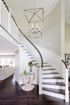 When you find yourself trying to decide upon a design and layout for your home staircase, it can be more than a bit of a challenge to pick something ple. Winding Staircase, Entry Stairs, Staircase Remodel, Staircase Makeover, Staircase Railings, Curved Staircase, House Stairs, Staircase Design, Stairways