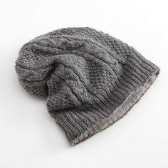 c2f8416b2a7 Sijjl SIJJL Cable-Knit Wool Beanie Grey Beanie