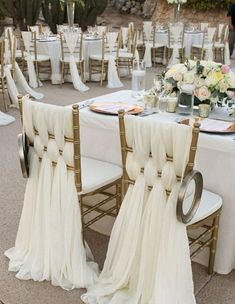Adorable 85 Awesome Wedding Chair Decoration Ideas for Reception https://bitecloth.com/2017/10/29/85-awesome-wedding-chair-decoration-ideas-reception/ #Receptions