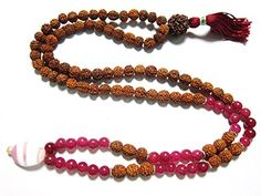 Rudraksha Mala Beads Pink Jade 108 Prayer Buddhist Meditation Rosary Mogul Interior http://www.amazon.com/dp/B00SB6XG4M/ref=cm_sw_r_pi_dp_spwUub0HF3N16