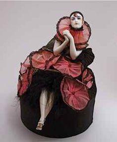 French Art Deco Porcelain Half Doll Vanity Box