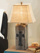 Barnwood Cross Table Lamp