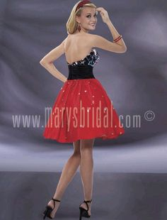 Astra Formal - Kiss Kiss 3780 | Size Red and Black Mary's Bridal, Short Gowns, Strapless Dress, Kiss, Formal Dresses, Red, Black, Fashion, Strapless Gown