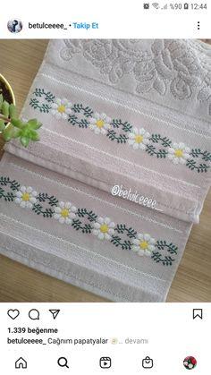 Towel, Cross Stitch Designs, Dots