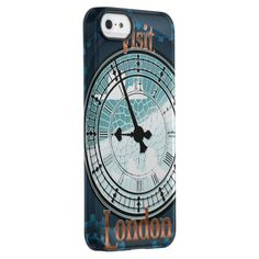 Visit London Victorian travel poster Uncommon Permafrost® Deflector iPhone 5 Case