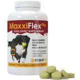 Dog Joint Supplement - MaxxiFlex Plus - Advanced Formula - Glucosamine HCL, Chondroitin Sulfate, MSM, Hyaluronic Acid, Devils Claw, Bromelain, Turmeric - Arthritis Pain Relief - Best Hip Support For Dogs - Canine Dysplasia - All Breeds