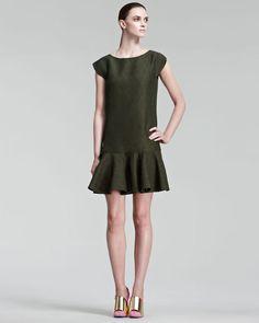 Yves Saint Laurent   Drop-Waist Jacquard Dress