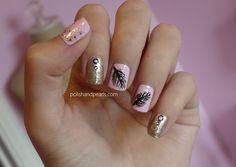 Girly Fall Nail Art