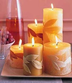 The Lab on the Roof: 9 Candle Decoration Ideas for Fall